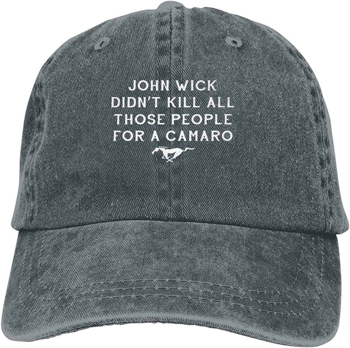 DIY John Wick Didnt Kill for Those People for A Camaro Mustang Horse Car Custom Fashion Baseball Hatblack