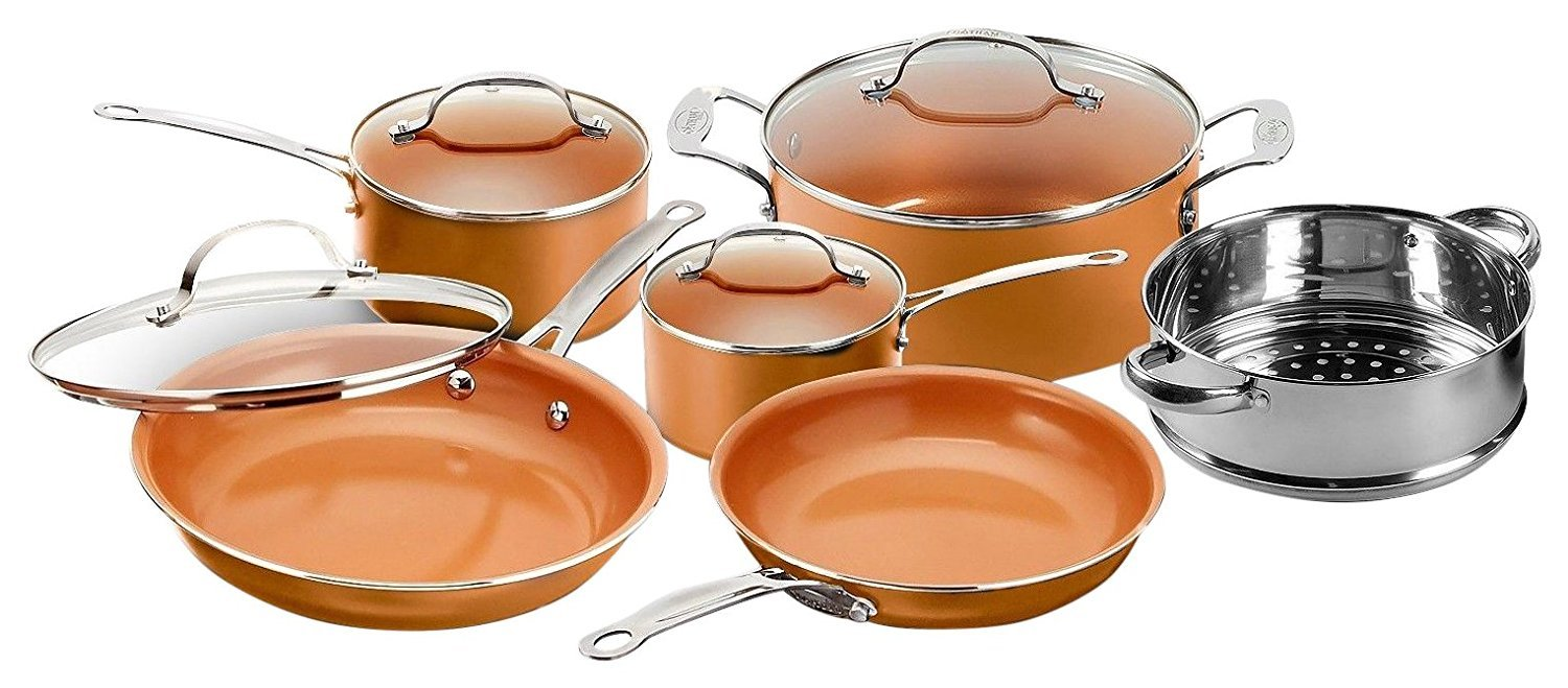 Gotham Steel 10-Piece Kitchen Set with Non-Stick Ti-Cerama Coating by Chef Daniel Green – As Seen on TV! Copper