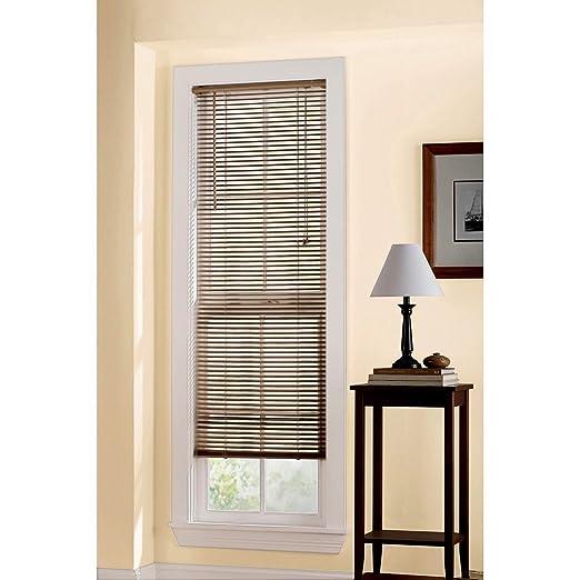 1 inch vinyl mini blinds room darkening designers touch 1inch vinyl mini blinds white 44x64 in 833384