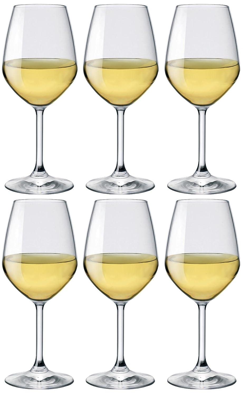 Bormioli Rocco Set of 6 Wine Glasses, 44.5cl 1318945