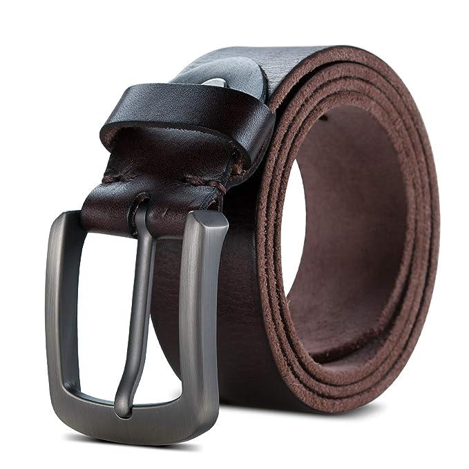 Lychee Cinturón Para Hombres, Cuero de 100% Genuino, Traje Para ...