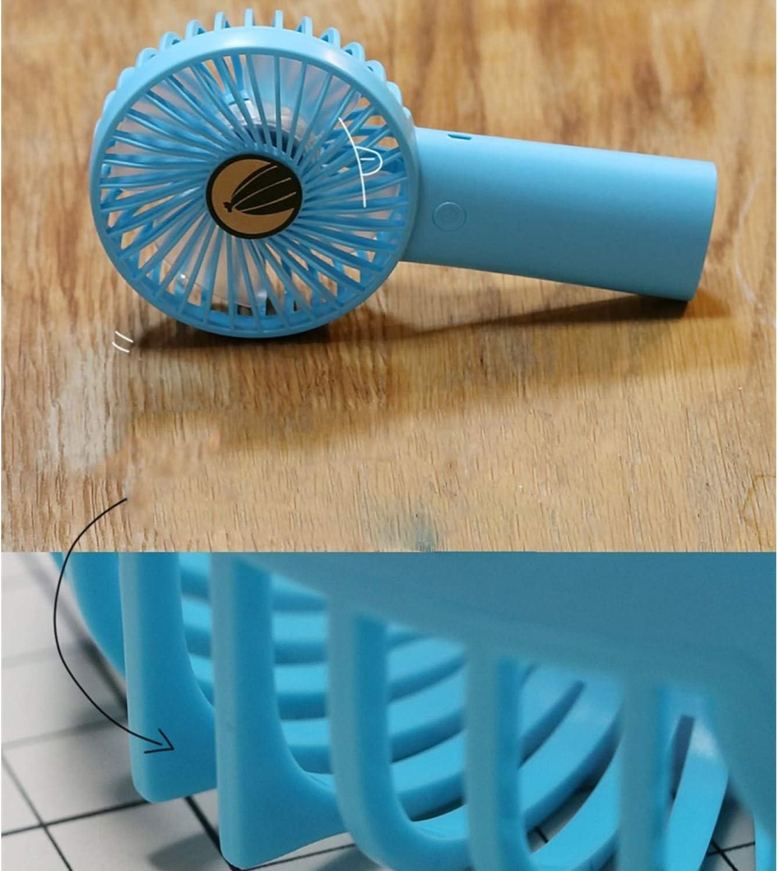 Air Cooler Handheld Mini Fan Portable 4000mAh Large Capacity Charging USB Dormitory Personal Fan Color : Blue