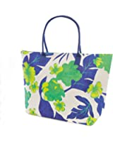 Womens/Ladies Woven Floral/Leaf Pattern Summer Handbag