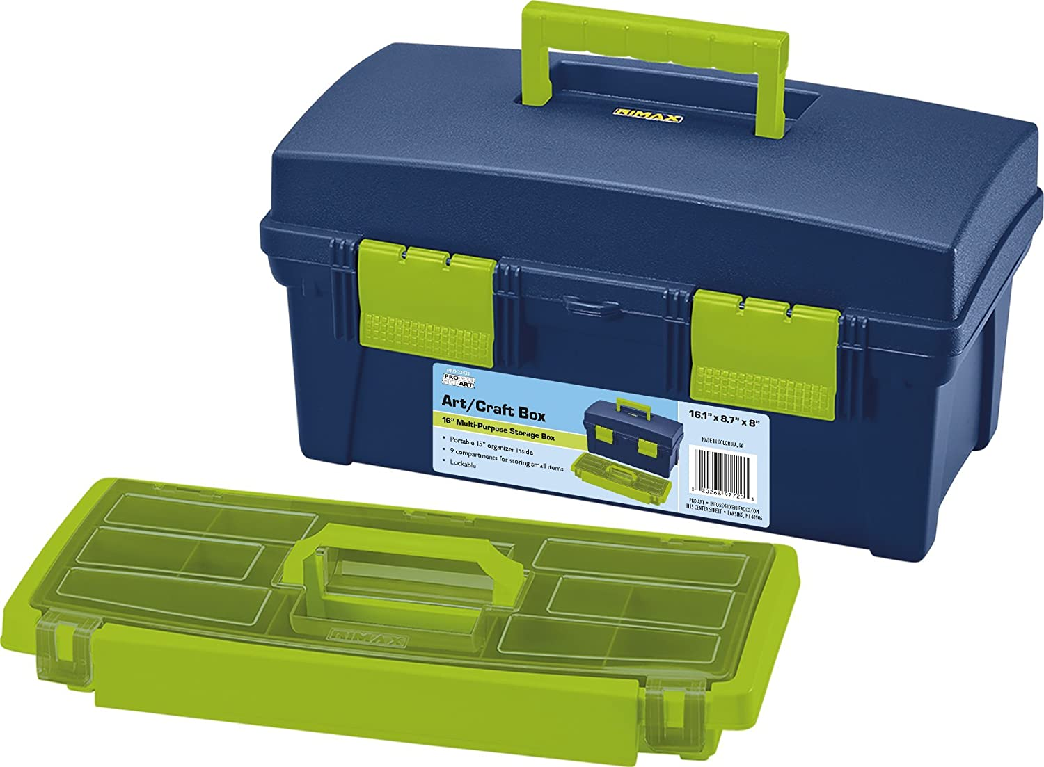 13-inch Creative Options 114-082 Molded Storage Craft Box with Lift-Out Tray