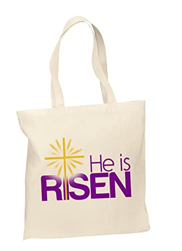 Amazon cotton tote bags custom easter gift bags easter tote cotton tote bags custom easter gift bags easter tote bag he is risen negle Image collections