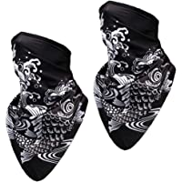 Chielor 3D Neck Gaiter Face Scarf Mask-Cooling&UV Protection Bandana Balaclava for Fishing Hiking Running Cycling(2Pcs…