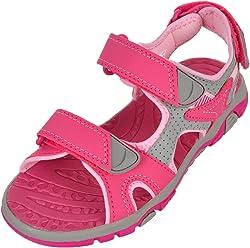 Khombu Girls River Sandal Pink/Grey