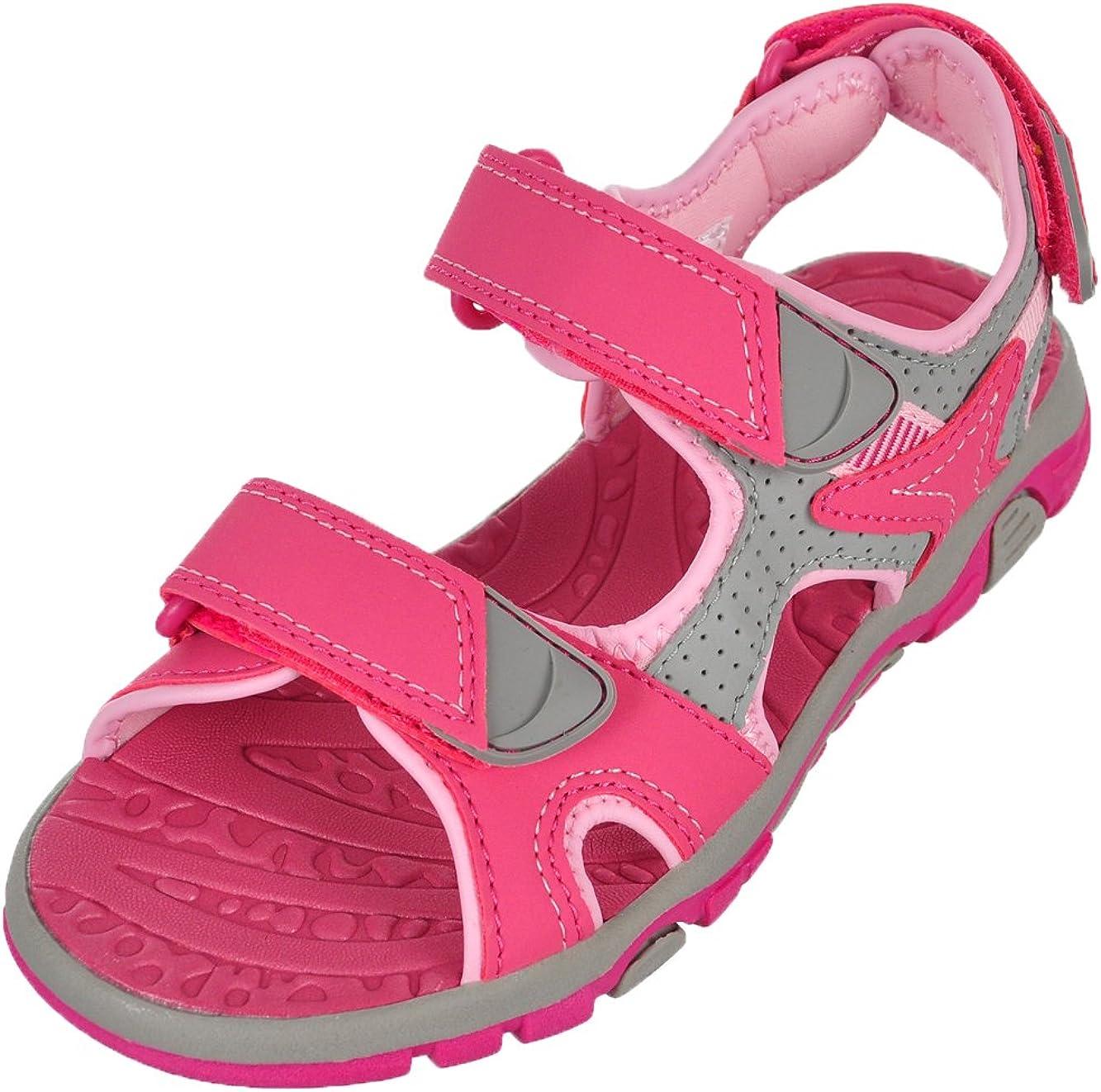 Khombu Girl's River Sandal Pink/Grey