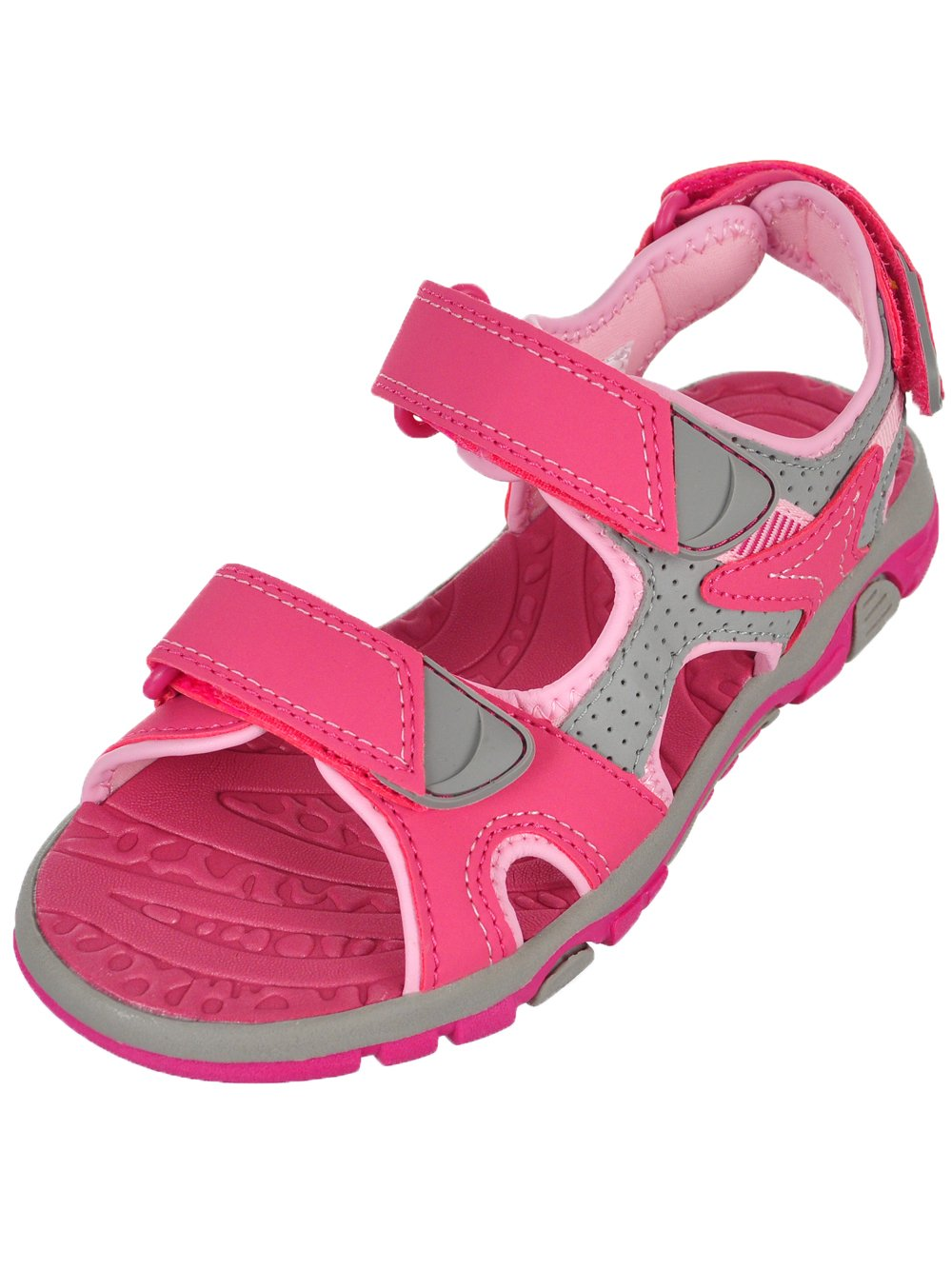 Khombu Girls' River Sandal Pink/Grey