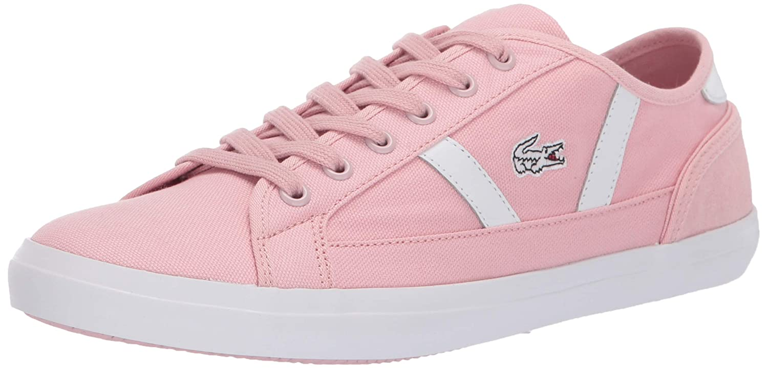 Light Pink White Lacoste Womens Sideline Sneaker