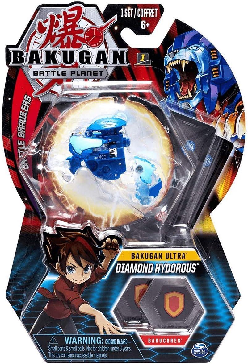 BAKUGAN – Diamond Hydorous – 8cm Figura de acción y Tarjeta de ...
