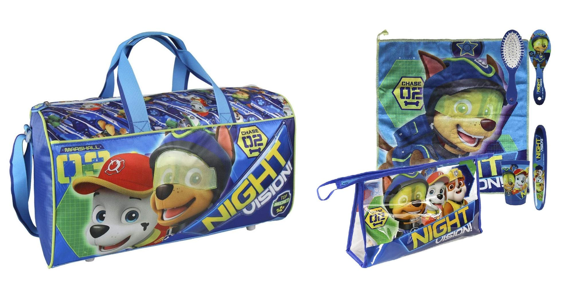 Paw Patrol Overnight Bag with Wash Bag and Accessories