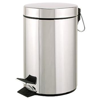 axentia - Cubo de Basura con Pedal para Cocina y baño ...