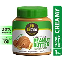 Disano Natural Unsweetened Peanut Butter, Creamy - 1Kg
