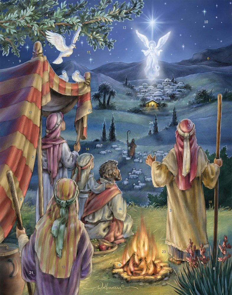 Following the Star Advent Calendar with Nativity Story Vermont Christmas Company