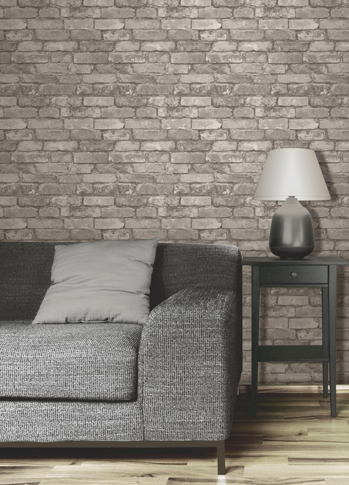 Brewster FD31286 Rustic Brick Wallpaper Grey Amazoncouk DIY Tools