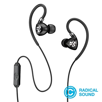 c3e9a83d4d7 Amazon.com: JLab Audio Fit2 Sport Earbuds, Sweatproof, Water Resistant with  in-Wire Customizable Earhooks, Guaranteed Fit, Guaranteed for Life - Black:  Home ...