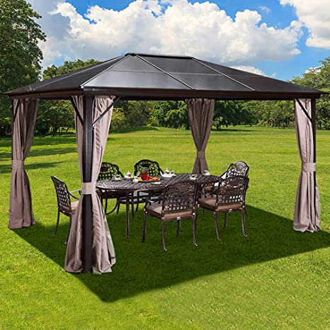 YOLENY Outdoor Hardtop Gazebo - Best For Protection