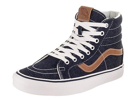 7296f23253 Vans Unisex Sk8-Hi Reissue (Denim C L) Dress Blues Chipmunk Skate Shoe