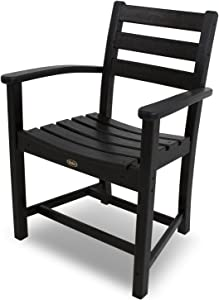Trex Outdoor Furniture Monterey Bay Dining Arm Chair, Charcoal Black