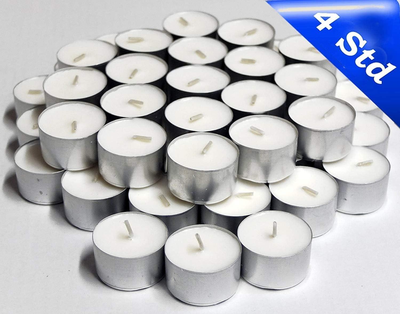 Gastro Unbekannt 1000 Teelichter 4 Stunden Brenndauer Lange Brenndauer Gro/ßpackung Gastronomie Kerzenlicht f/ür Das Windlicht