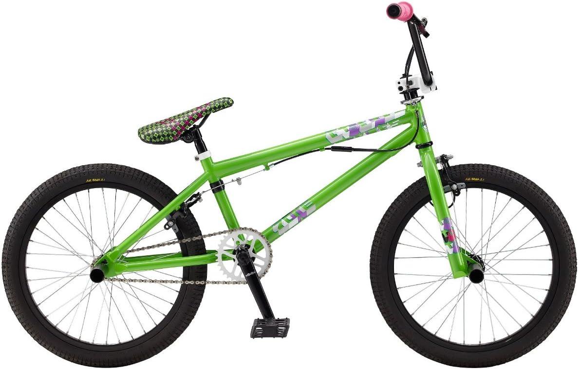 GT - Bicicleta BMX de Ciclismo, Talla única, Color Verde Lima ...