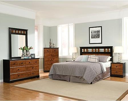 Cambridge Westminster 5 Piece Suite: Queen Headboard, Dresser, Mirror,  Chest, Nightstand Bedroom Sets Indoor Furniture, Brown