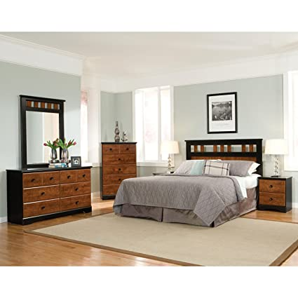 Cambridge 98115A5Q1-CH Westminster 5 Piece Suite: Queen Headboard, Dresser,  Mirror, Chest, Nightstand Bedroom Sets Indoor Furniture Brown