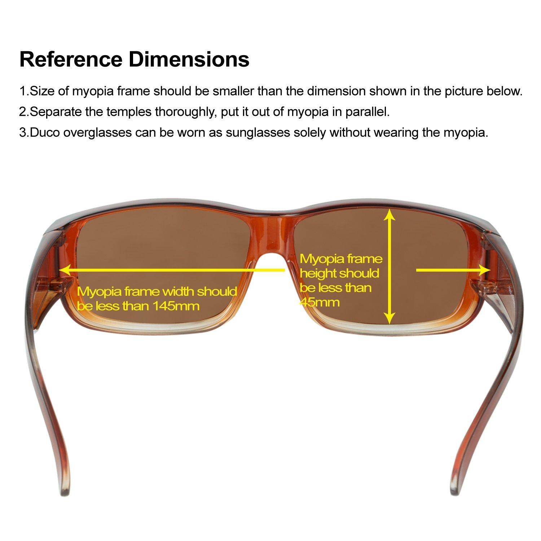 DUCO Unisex polarisierte Sonnenbrillen Überziehbrille Fit-Over ...