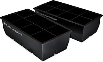 Home-Complete 2 Large Silicone Pack Ice Cube Trays