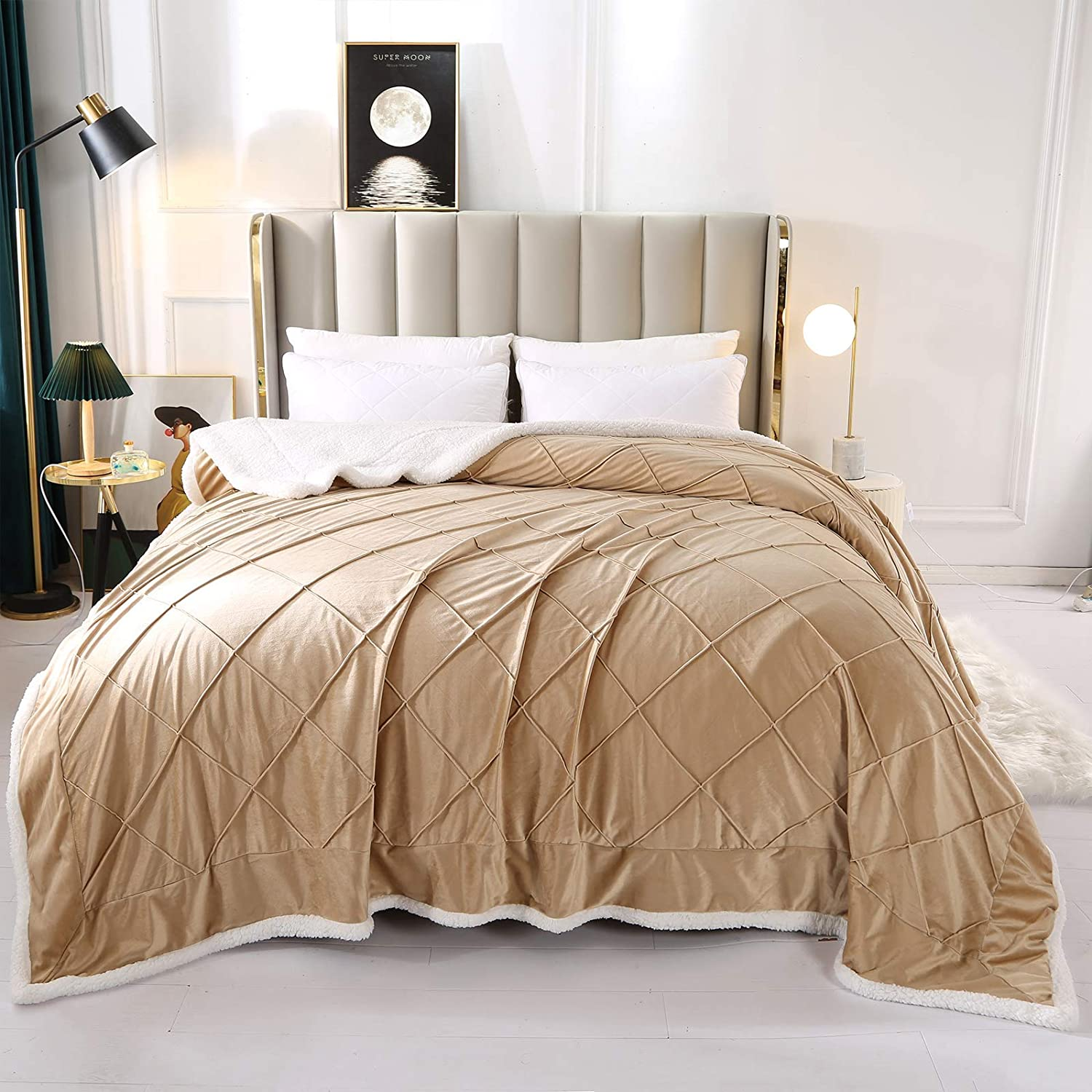 87x95 Inches-Faux Fur King Size-Winter Bliss-Sherpa Comforter-1 Piece-NEW