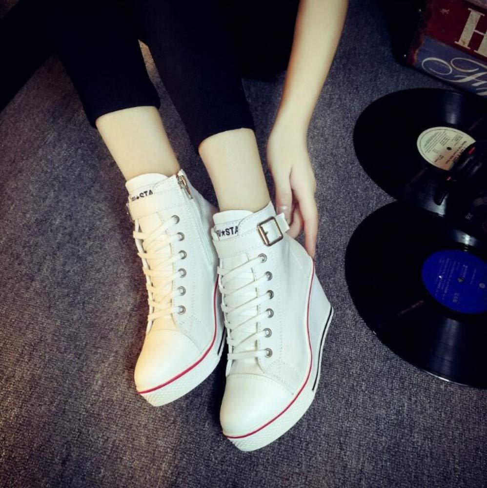 XL_nsxiezi Frauen Plattform Leinwand Schuhe High-Top Casual Schuhe Schuhe Schuhe seitlichen Reißverschluss Erhöhung B07PWPM5F8 Sport- & Outdoorschuhe Zu einem niedrigeren Preis e66205