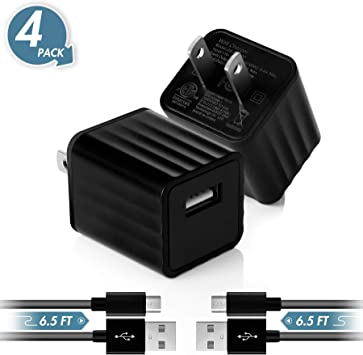 Amazon.com: Cargador de pared USB, 2,1 A, adaptador de ...
