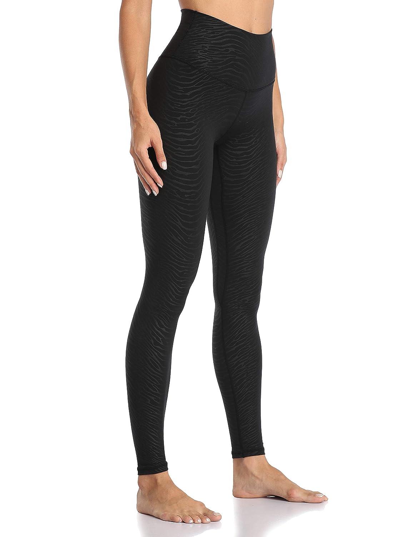 Colorfulkoala Womens High Waisted Embossed Pattern Leggings Full Length Yoga Pants
