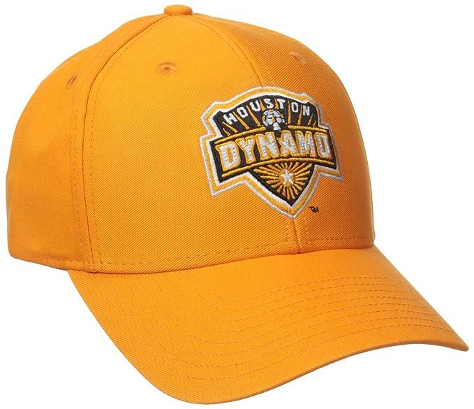 new style 1be8c 4975f MLS Houston Dynamo Men s Basic Structured Adjustable Cap, One Size, Orange