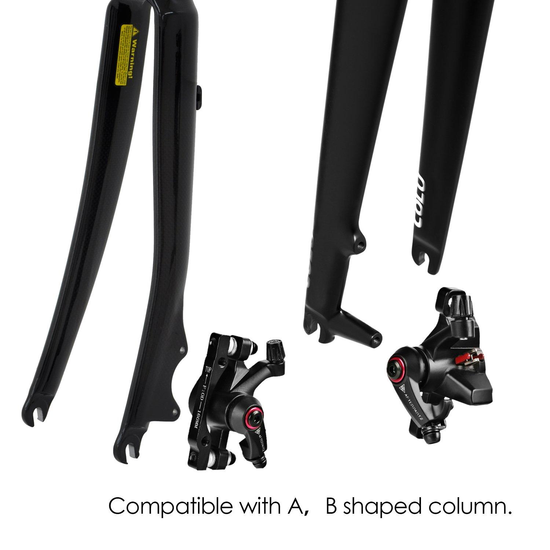 160 mm AFTERPARTZ NV-5 Unisex Kit de Freno de Bicicleta para Adultos Color Blanco