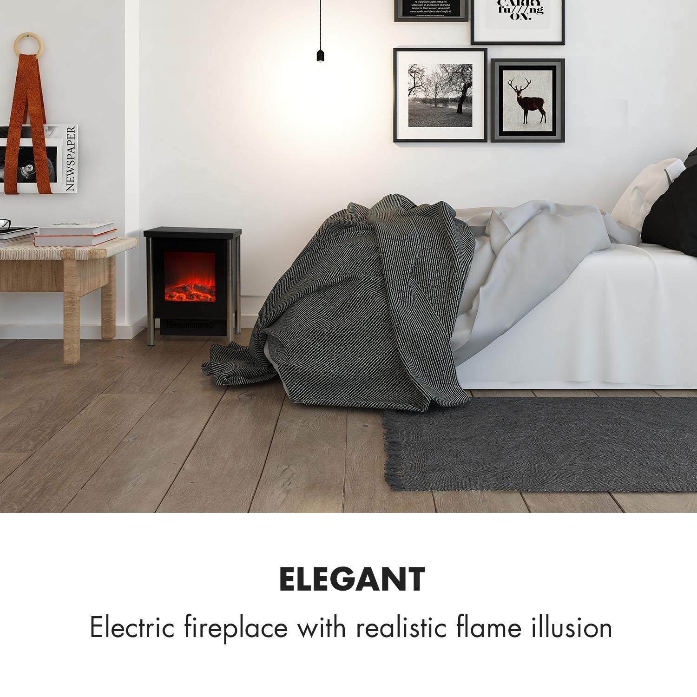 Klarstein Copenhagen • Chimenea eléctrica • Chimenea electrónica • 2 Niveles de Potencia: 950 o 1900 W • Llama simulada Vidrio Frontal • Termostato • Negro: ...