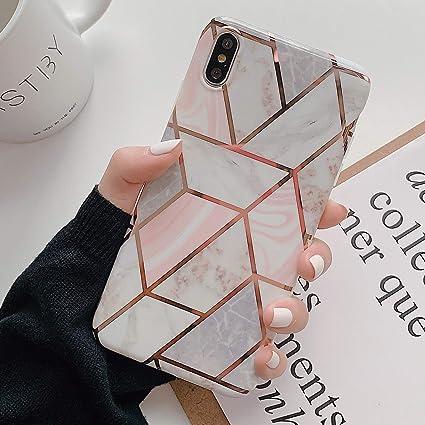 coque iphone xs max silicone marbre