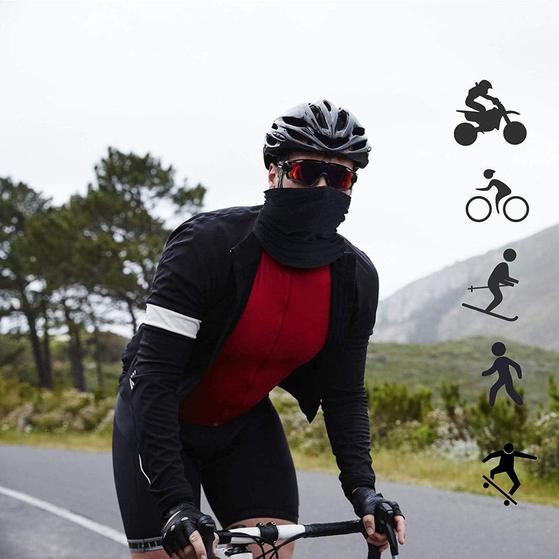 Casquette Bandana Cache-Cou Visage Echarpe Foulard Tube Tour de Cou Bandana Multifonction Bandeau Bracelet Casque Cagoule Moto Bandana pour Sport