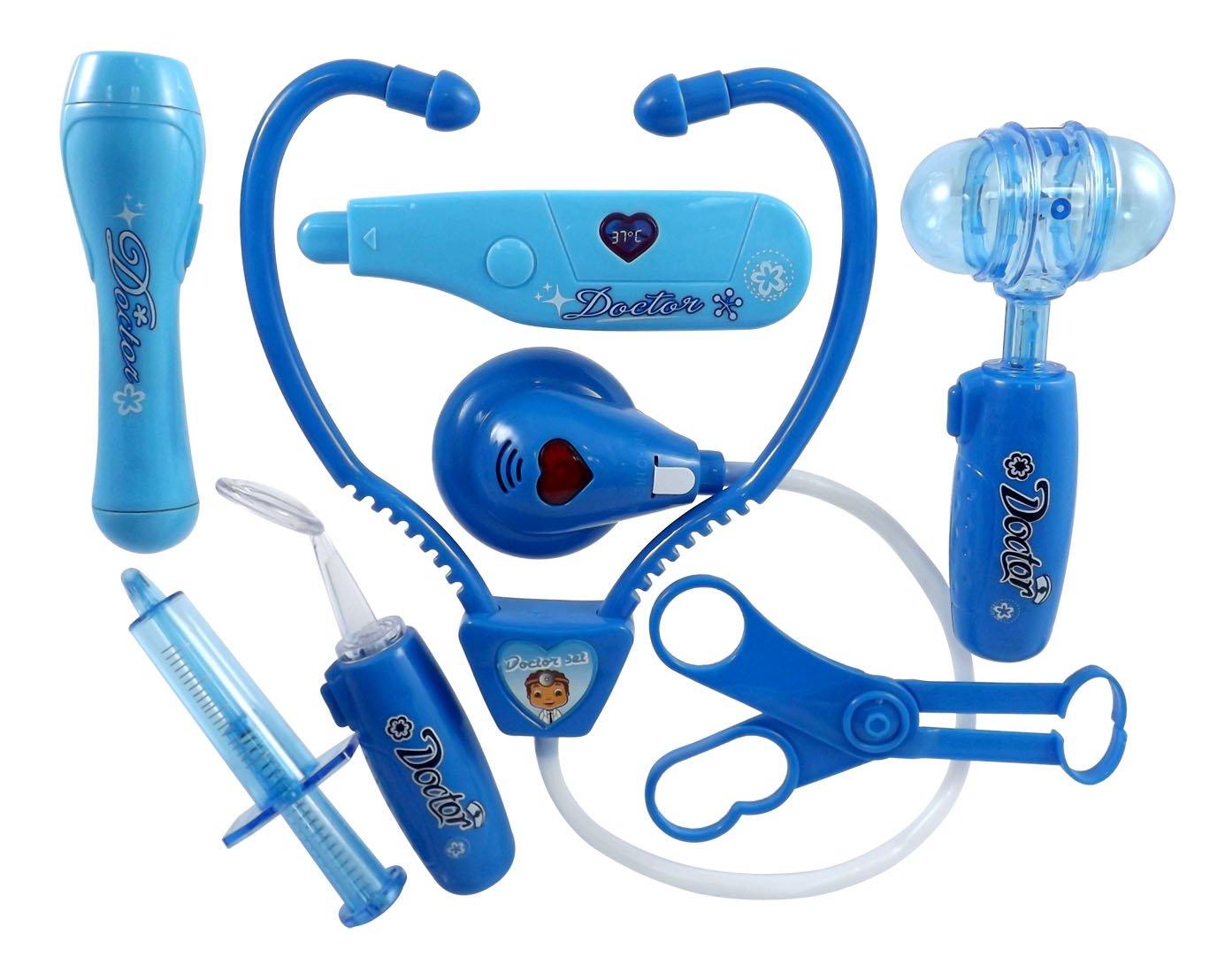 amazon com liberty imports doctor nurse blue medical kit playset