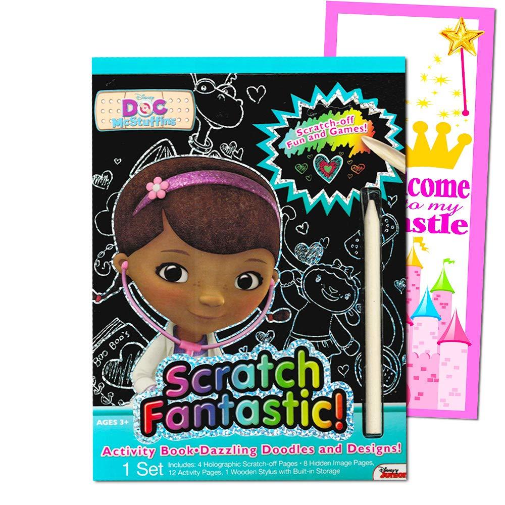 Artist Studios Doc McStuffins Scratch Fantastic Book with Door Hanger (Doc McStuffins Party Supplies)