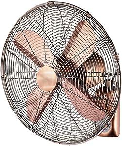 GOHHK Electric Fan/Retro Antique Metal Wall Fan/Remote Control Swing Fan, Home Industry with Remote Control (14inch / 16inch / 18inch) (Size : 14inch)