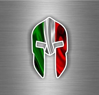 Aufkleber Sticker Auto Motorrad Krieger Trojan Spartan Flagge Italien Italienisch