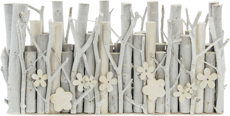 d/éco Rustique et Romantique 4 soliflores en Verre Amovibles c/érus/é Blanc Morceaux de Bois de diff/érentes Tailles orn/és de Jolies en Bois Vase Bois