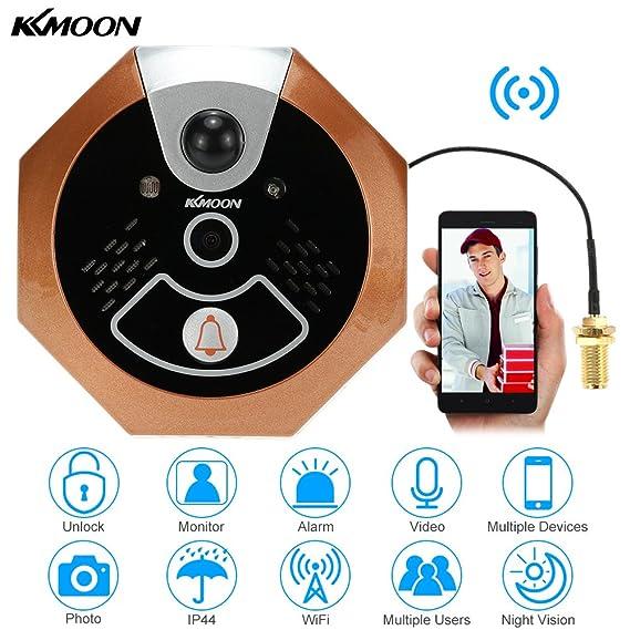 kkmoon WiFi Digital Peephole Viewer inalámbrica de vídeo ...