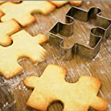GXHUANG Game Puzzles Sugar Biscuit Cookie Cutter Set,Set of 2 - Stainless Steel (Puzzles)