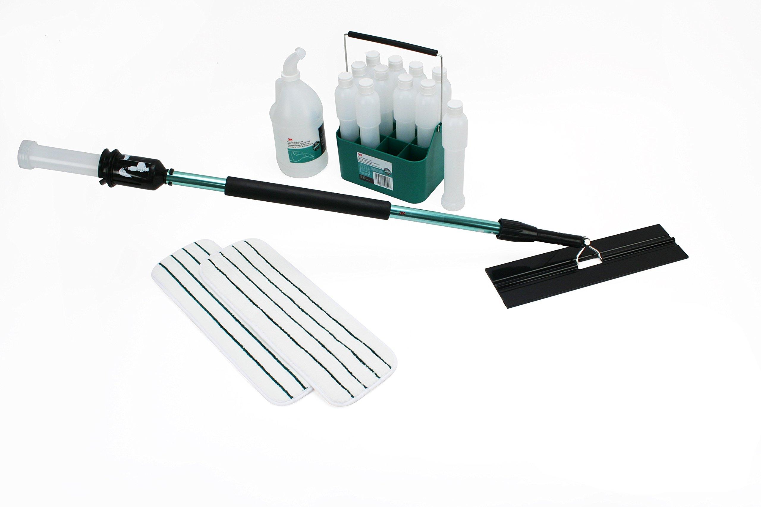 3M Easy Scrub Express Starter Kit, Flat Mop System by 3M