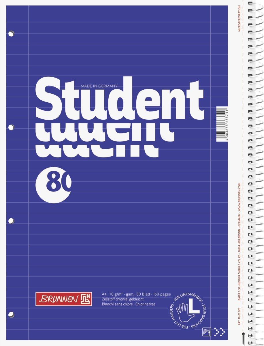 raffinata copertina con effetto metallizzato A quadretti A4 1067174/Blocco note//quaderno Premium Duo Brunnen