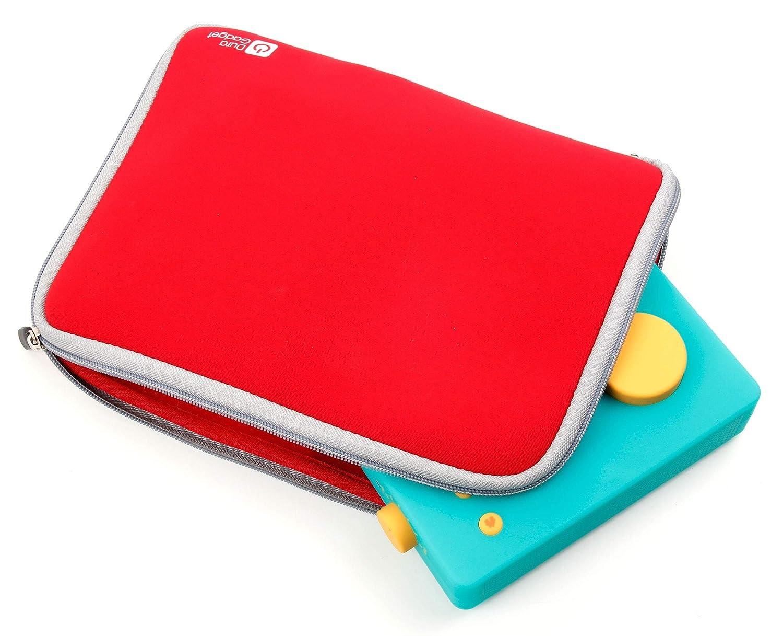 Duragadget Housse Large Rouge Compatible avec Lunii ma Fabrique à Histoires et Accessories Non fournis - Protection en néoprène