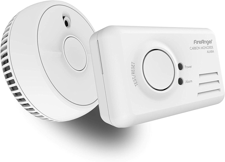 Fireangel 9B-SB1-TP-R - Alarma doble para humo y CO, color blanco